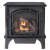 Cedar Ridge Hearth 25.75-in Black Vent-Free Gas Fireplace