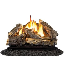 Cedar Ridge Hearth 30-in W/23-in W 32,000-BTU Dual Vent-Free Gas Fireplace Logs with Thermostat