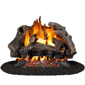 Cedar Ridge Hearth 18-in 45,000-BTU Dual-Burner Vented Gas Fireplace Logs