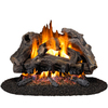 Cedar Ridge Hearth 18-in 45,000-BTU Dual-Burner Vented Gas Fireplace Logs