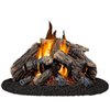Cedar Ridge Hearth 30-in 65,000-BTU Dual-Burner Vented Gas Fireplace Logs