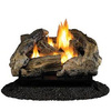 Cedar Ridge Hearth 18-in 30,000-BTU Dual-Burner Vent-Free Gas Fireplace Logs with Thermostat