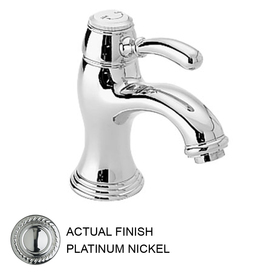 JADO Classic Platinum Nickel 1-Handle Single Hole WaterSense Bathroom Sink Faucet (Drain Included)