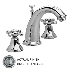 JADO Classic Brushed Nickel 2-Handle Widespread WaterSense Bathroom Sink Faucet (Drain Included)