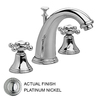 JADO Classic Platinum Nickel 2-Handle Widespread WaterSense Bathroom Sink Faucet (Drain Included)