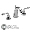 JADO Classic Platinum Nickel 2-Handle Widespread WaterSense Labeled Bathroom Sink Faucet (Drain Included)
