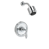 JADO Classic Polished Chrome 1-Handle Shower Faucet Trim Kit with Multi-Function Showerhead