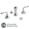 JADO Classic Brushed Nickel Vertical Spray Bidet Faucet
