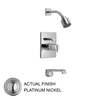 JADO Glance Platinum Nickel 1-Handle Tub and Shower Faucet with Multi-Function Showerhead