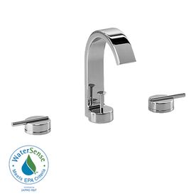JADO Glance Polished Chrome 2-Handle Widespread WaterSense Labeled Bathroom Sink Faucet (Drain Included)