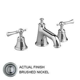 JADO Hatteras Brushed Nickel 2-Handle Widespread WaterSense Labeled Bathroom Sink Faucet (Drain Included)