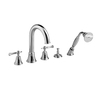 JADO Hatteras Polished Chrome 2-Handle Tub and Shower Faucet with Handheld Showerhead