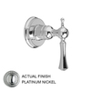 JADO Nickel Tub/Shower Handle