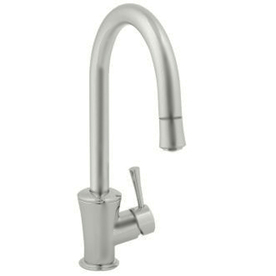 shop jado basil ultrasteel pull down kitchen faucet at