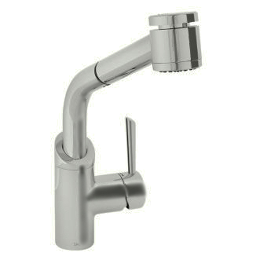 Shop Jado Coriander Ultrasteel Pull Out Kitchen Faucet At