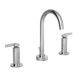 JADO Stoic Platinum Nickel 2-Handle Widespread WaterSense Labeled Bathroom Sink Faucet (Drain Included)