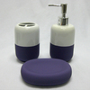 Style Selections Back to Campus White and Purple Ceramic Bathroom Coordinate Set