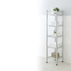 Style Selections 53-in H x 14.6-in W x 13.6-in D 5-Tier Steel and Glass Freestanding Shelving Unit