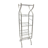 Style Selections 57-in H x 13.38-in W x 9.38-in D 4-Tier Steel Freestanding Shelving Unit