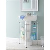 Style Selections 25.98-in H x 21.85-in W x 13.19-in D 2-Tier Steel Freestanding Shelving Unit