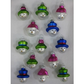 Holiday Living 13-Pack Multicolor Glass Mini Snowman Ornaments CB07002075