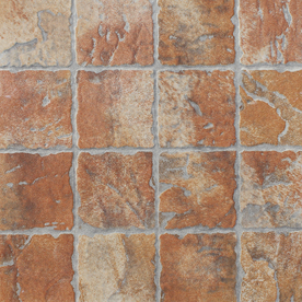 Shop floors 2000 12 pack old world red glazed porcelain for Old world floors