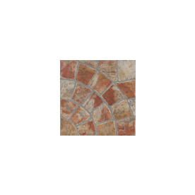 FLOORS 2000 12-Pack 13-in x 13-in Old World Rnd Red Glazed Porcelain Floor Tile (Actuals 13-in x 13-in)