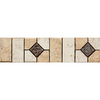 Del Conca 3-in x 12-in Rialto Beige Thru Body Porcelain Listello Tile