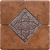 Del Conca 6-in x 6-in Rialto Terra Thru Body Porcelain Square Accent Tile