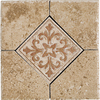 Del Conca 6-in x 6-in Roman Stone Noce Thru Body Porcelain Square Accent Tile
