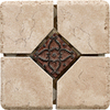 Del Conca 4-in x 4-in Rialto Beige Thru Body Porcelain Square Accent Tile