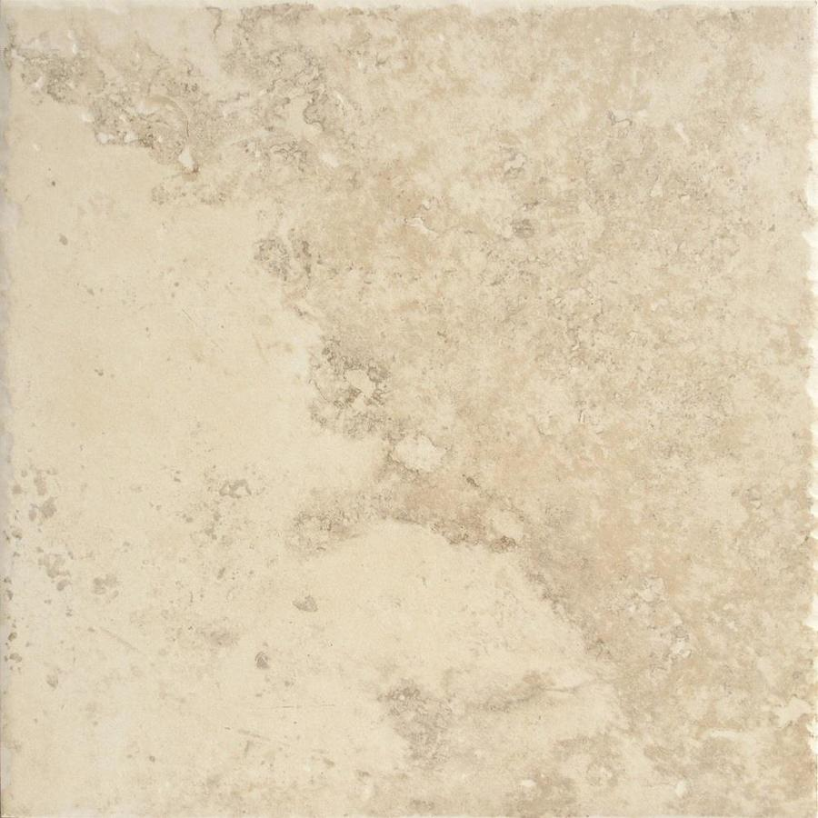 Shop del conca roman stone beige thru body porcelain indoor outdoor floor tile common 12 in x - Lowes floor tiles porcelain ...