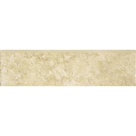 Del Conca Roman Stone Beige Thru Body Porcelain Indoor Outdoor Bullnose Tile (Common: 3-in x 12-in; Actual: 3.15-in x 11.81-in)