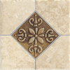 Del Conca 6-in x 6-in Roman Stone Beige Thru Body Porcelain Square Accent Tile