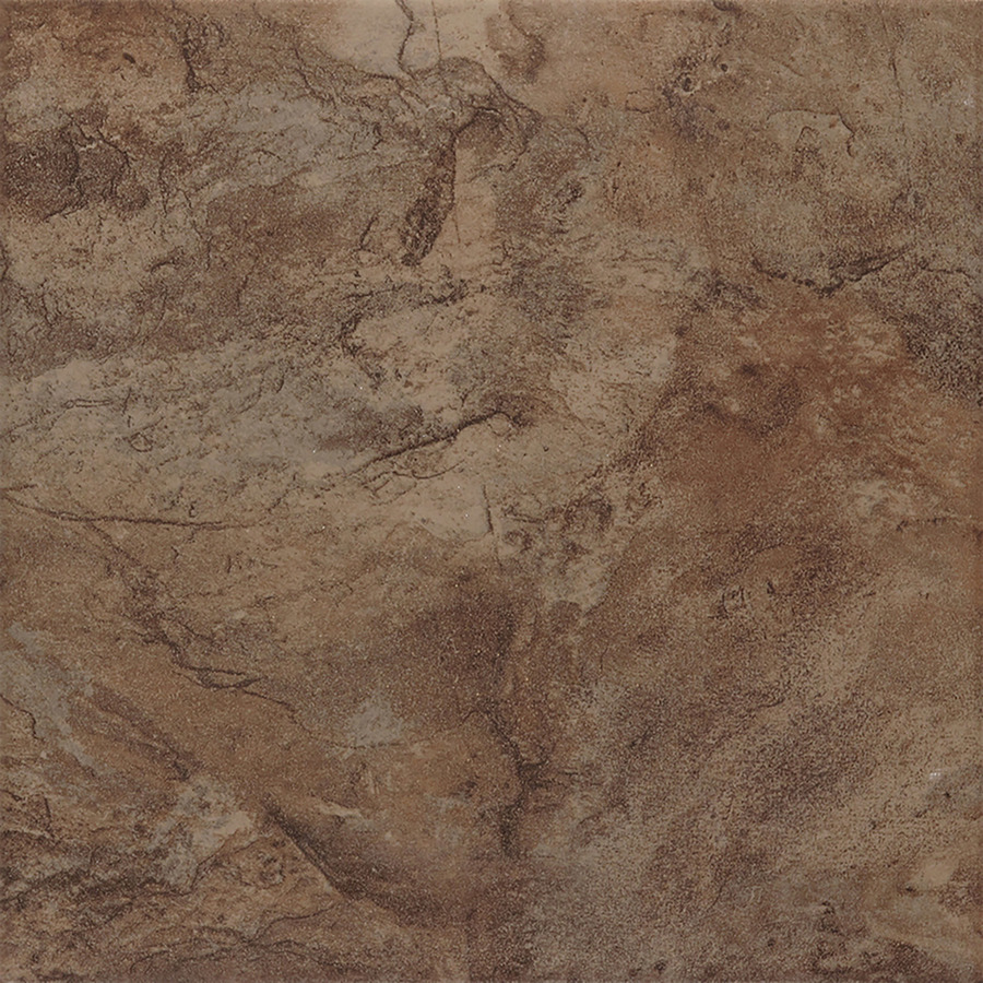 Shop style selections canyon espresso glazed porcelain floor tile common 13 in x 13 in actual - Lowes floor tiles porcelain ...