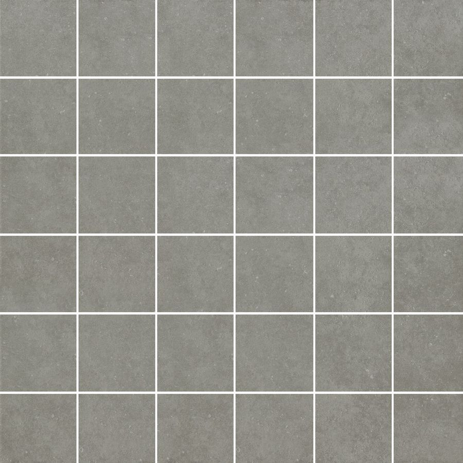 Selections Mitte Gray Glazed Porcelain Mosaic Square Medallion Tile
