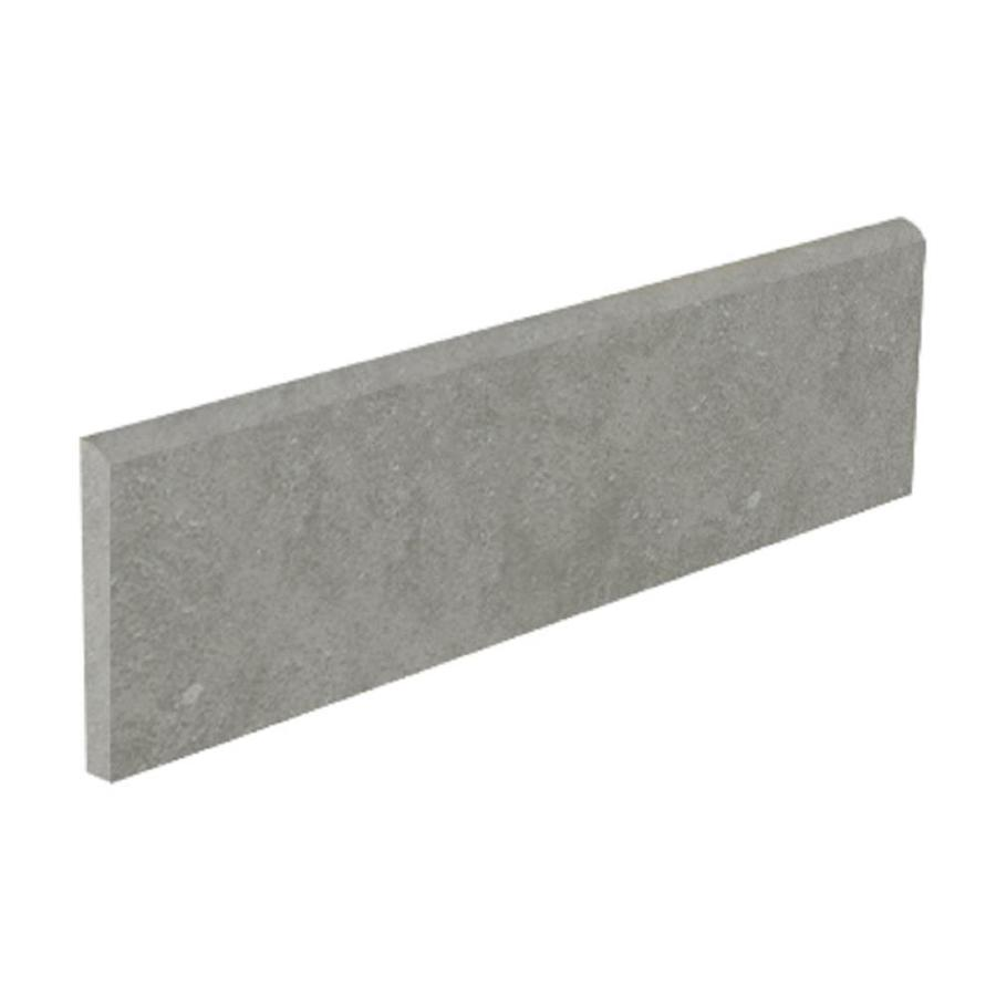 Shop Style Selections Mitte Gray Glazed Porcelain Bullnose