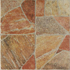 FLOORS 2000 11-Pack Paladiana Red Glazed Porcelain Indoor/Outdoor Floor Tile (Common: 13-in x 13-in; Actual: 13.38-in x 13.38-in)