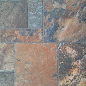 FLOORS 2000 11-Pack 13-in x 13-in Sunset Red Glazed Porcelain Floor Tile