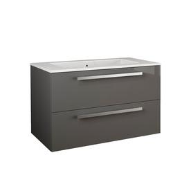 shop latoscana ambra glossy slate integral single sink bathroom vanity with solid surface top. Black Bedroom Furniture Sets. Home Design Ideas