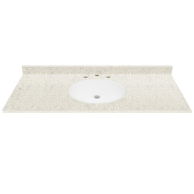 "TFI 49""W x 22""D Polar White Solid Surface Vanity Top"