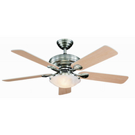 "Harbor Breeze 52"" Brushed Cascade Brushnick Ceiling Fan L3BN Reviews"