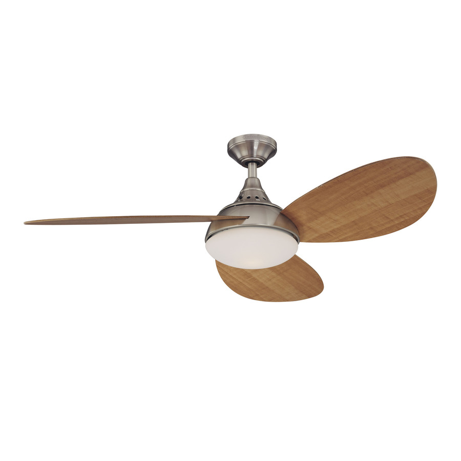 Shop Harbor Breeze 52-in Avian Brushed Nickel Ceiling Fan with Light Kit at Lowes.com