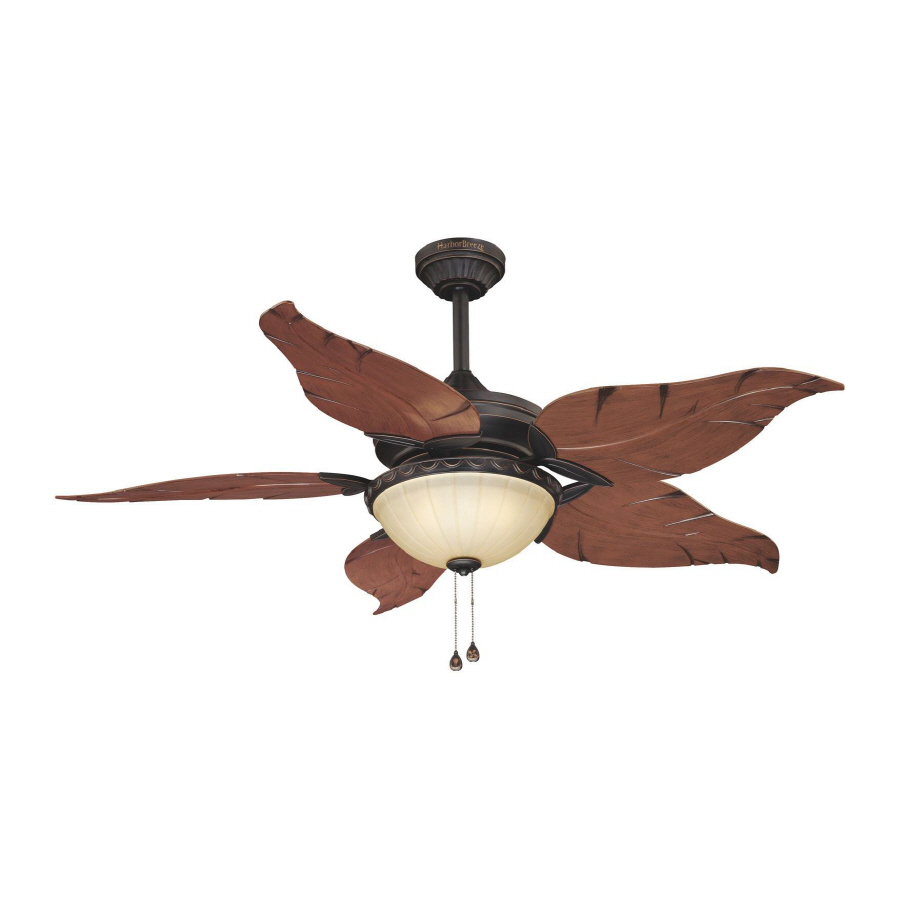 Shop Harbor Breeze 52 In Outdoor Ceiling Fan With Light
