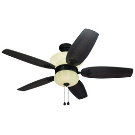 Harbor Breeze 52-in Bevington Dark Oil-Rubbed Bronze Ceiling Fan with Light Kit