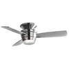 allen + roth Mazon 44-in Brushed Nickel Flush Mount Indoor Ceiling Fan with Light Kit and Remote (3-Blade)