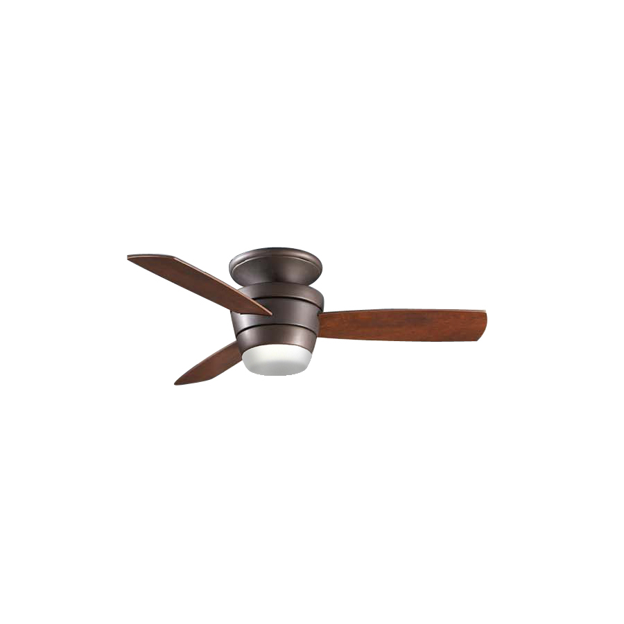 allen roth mazon 44 in oil rubbed bronze flush mount ceiling fan with
