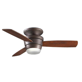 Rubbed Bronze Bathroom Accessories on Shop Allen   Roth 44 In Mazon Oil Rubbed Bronze Ceiling Fan With Light