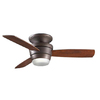 allen + roth Mazon 44-in Oil Rubbed Bronze Flush Mount Indoor Ceiling Fan with Light Kit and Remote (3-Blade)