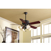 Harbor Breeze Edenton 52-in Aged Bronze Downrod or Close Mount Indoor Ceiling Fan with Light Kit